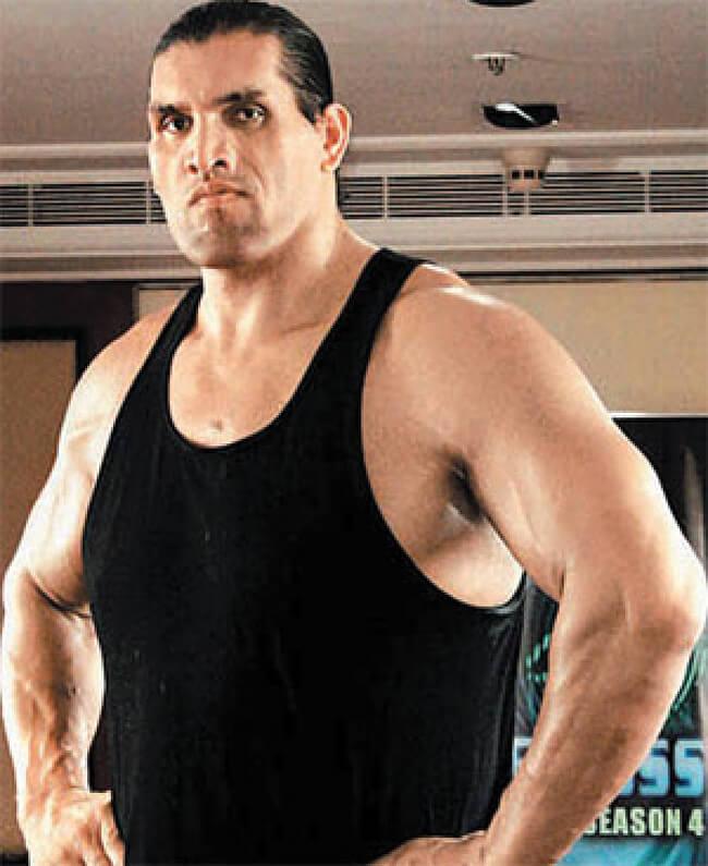 Great Khali Biceps Size