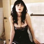 Zooey Deschanel Boobs See Through Dress