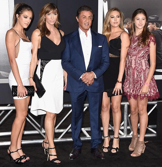 Sylvester Stallone Family